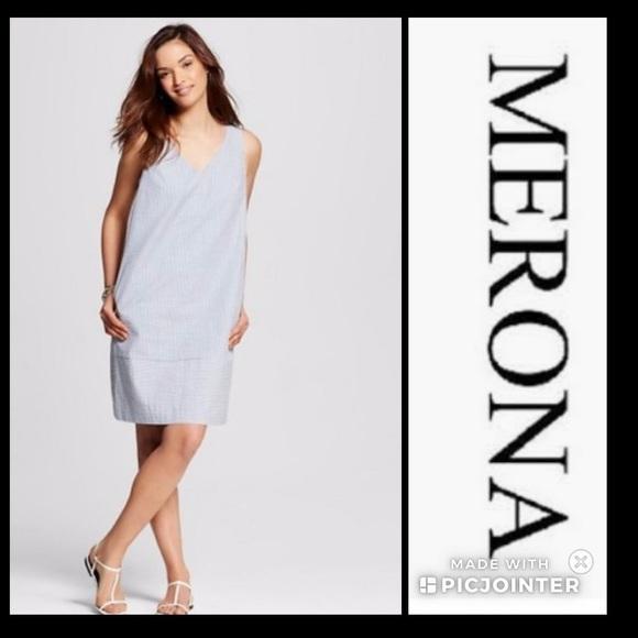 34% off Merona Dresses & Skirts - Merona striped sears sucker shift ...